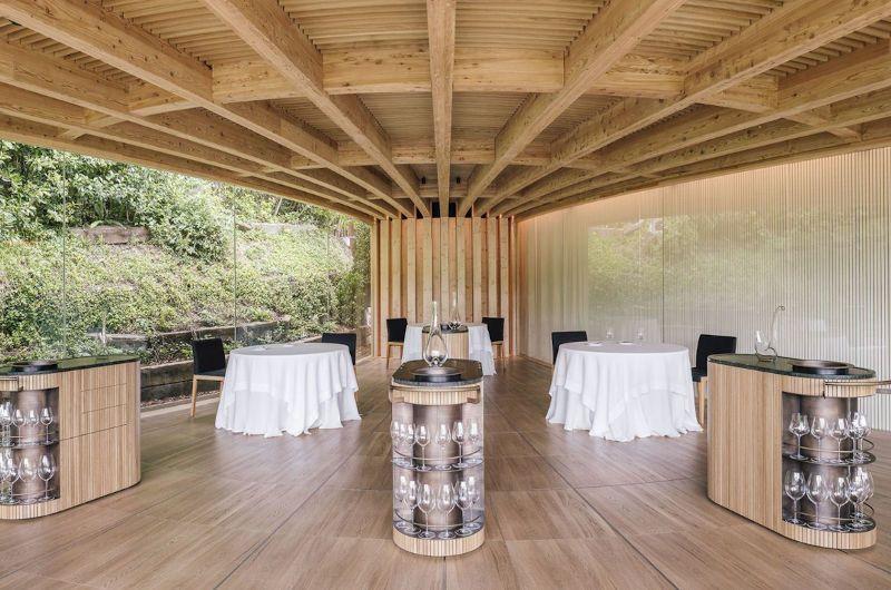 Mesas restaurante en piedra Mallebrera